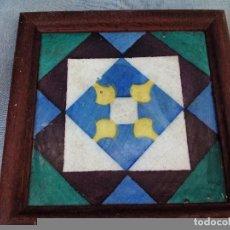 Antigüedades: AZULEJO PINTADO A MANO ENMARCADO, PRINCIPIOS DEL SIGLO XX. Lote 69831057
