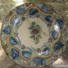 Antigüedades: ANTIGUO PLATO DECORADO CON LAÑAS. Lote 69863141