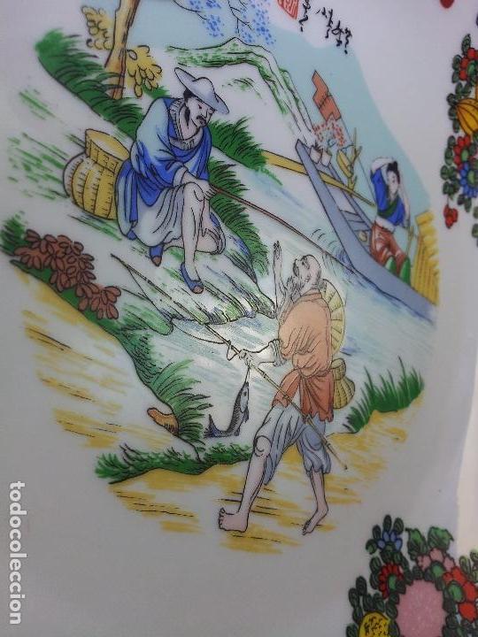 Antigüedades: PLATO ORIENTAL ASIA CHINA JAPON SATSUMA PINTADO MANO 25 CM DIAMETRO CON MARCAJE - Foto 11 - 69881345