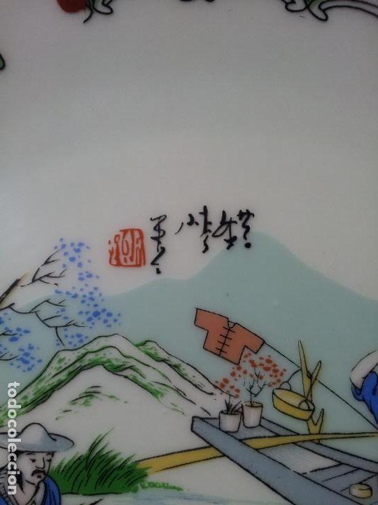 Antigüedades: PLATO ORIENTAL ASIA CHINA JAPON SATSUMA PINTADO MANO 25 CM DIAMETRO CON MARCAJE - Foto 14 - 69881345
