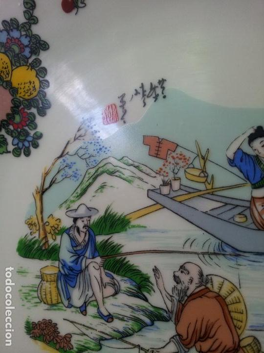 Antigüedades: PLATO ORIENTAL ASIA CHINA JAPON SATSUMA PINTADO MANO 25 CM DIAMETRO CON MARCAJE - Foto 15 - 69881345