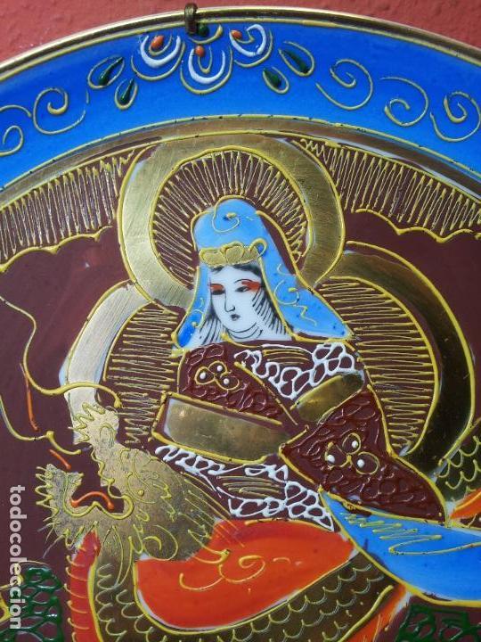 PLATO ORIENTAL ASIA CHINA JAPON SATSUMA PINTADO MANO 25 CM DIAMETRO CON MARCAJE (Antigüedades - Porcelana y Cerámica - Japón)