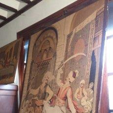 Antigüedades: EXTRAORDINARIO TAPIZ ANTIGUO 180 X 130 CENTÍMETROS. Lote 69914218