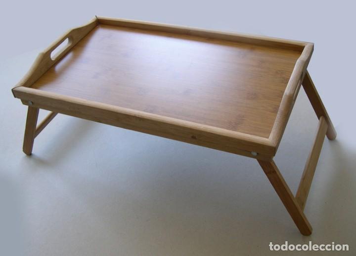 Preciosa mesa para desayuno en cama en madera d vendido - Mesa auxiliar de cama ...