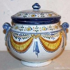 Antigüedades: SOPERA EN CERÁMICA DE TALAVERA - PINTADA A MANO - FIRMADA DURAN - AÑOS 40. Lote 69957097