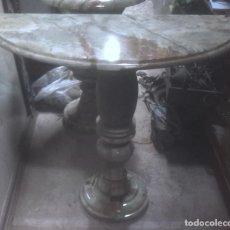 Antigüedades: MESA CONSOLA DE ENTRADA DE ONIX DE PAKISTAN.. Lote 69974865
