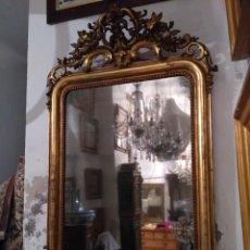 Antigüedades: ESPEJO DORADO DEL SIGLO XIX. Lote 69998278