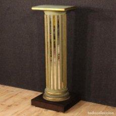 Antigüedades: COLUMNA FRANCÉS LACADA CON ESPEJOS. Lote 70011489