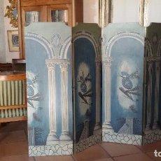 Antigüedades: BIOMBO POLICROMADO. Lote 70023701