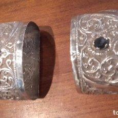 Antigüedades: 2 SERVILLETEROS PLATA. Lote 70031097