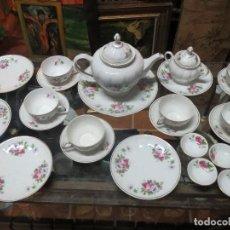 Antigüedades: JUEGO DE MERIENDA DESAYUNO SANTA CLARA AÑOS 60.. Lote 70106873