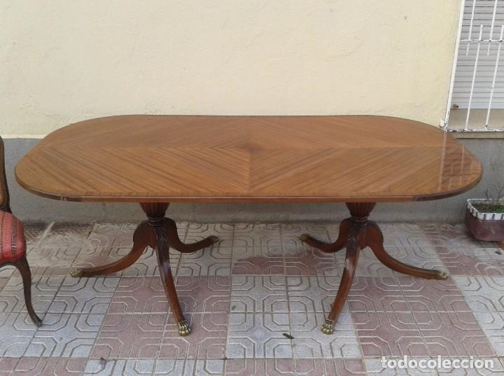 Gran mesa de juntas antigua, mesa de salón anti - Verkauft ...