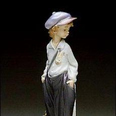 Antigüedades: FIGURA LLADRÓ GOLFILLO PLANTADO. Lote 69597817