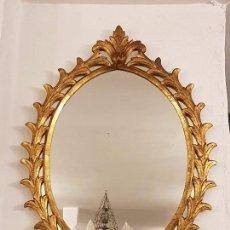 Antigüedades: ANTIGUO ESPEJO CORNUCOPIA DE MADERA TALLADA. Lote 66875938