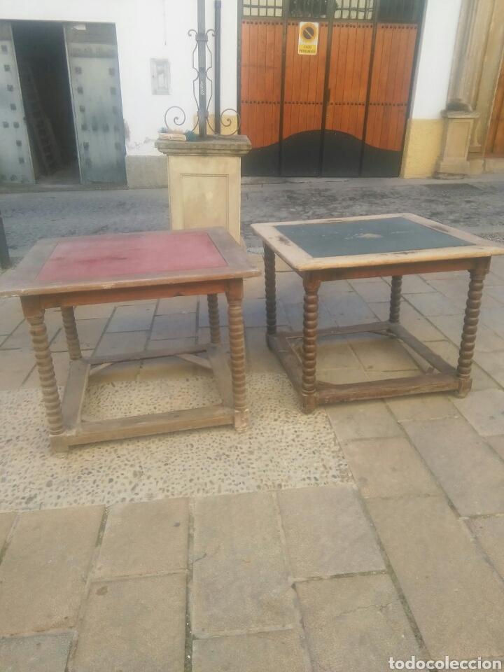PAREJA DE MESAS (Antigüedades - Muebles Antiguos - Mesas Antiguas)