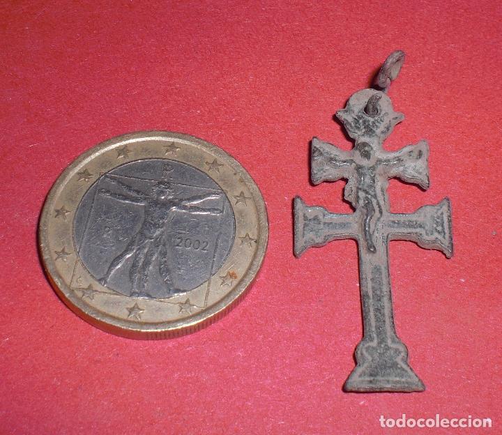 Antigüedades: Antigua cruz caravaca siglo XVII relieves - Foto 3 - 70164541