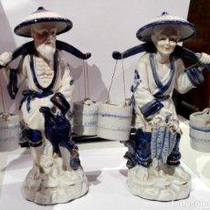 Antigüedades: PAREJA DE PORCELANAS CHINAS. Lote 70169493