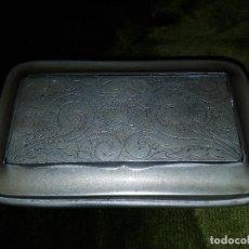 Antigüedades: CAJA TABAQUERA EN ALPACA . Lote 70179837