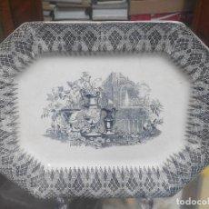Antigüedades: FUENTE DE CARTAGENA SIGLO XIX JARDIN CON JARRONES. Lote 70181249