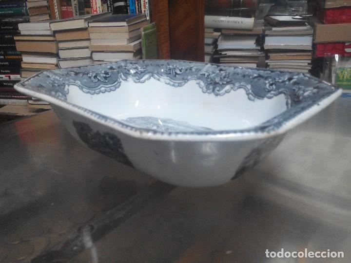 Antigüedades: ensaladera de cartagena siglo XIX caceria del toro - Foto 6 - 70181409