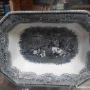 Antigüedades: GRAN ENSALADERA DE CARTAGENA SIGLO XIX CACERIA DEL TORO. Lote 70181525