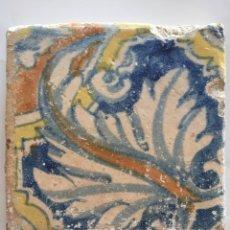 Antigüedades: AZULEJO RENACENTISTA SIGLO XVII. Lote 70199507