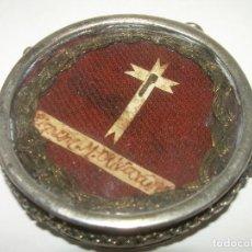 Antigüedades: ANTIGUO Y GRAN RELICARIO DE PLATA DEL SIGLO XVIII....LIGNUN M. OLIVARUM.. Lote 70204149