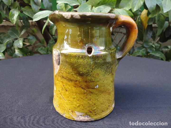 ALFARERÍA CATALANA: MEDIDA PARA VINO DE MIRAVET (Antigüedades - Porcelanas y Cerámicas - Catalana)