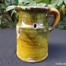 Antigüedades: ALFARERÍA CATALANA: MEDIDA PARA VINO DE MIRAVET. Lote 70212377