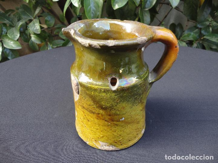 Antigüedades: Alfarería catalana: Medida para vino de Miravet - Foto 5 - 70212377