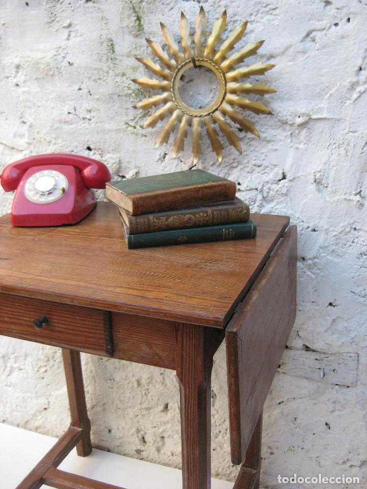 Preciosa mesa libro madera antigua ideal cocina comprar mesas antiguas en todocoleccion 70213173 - Mesas de libro para cocina ...