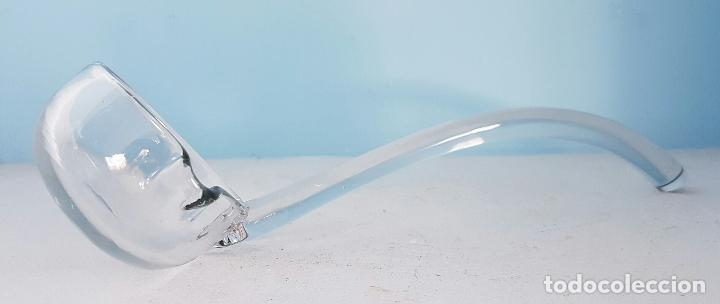 Antigüedades: Impresionante ponchera antigua en cristal de bohemia tallado a mano azul encamisado, años 20 . - Foto 4 - 70263481
