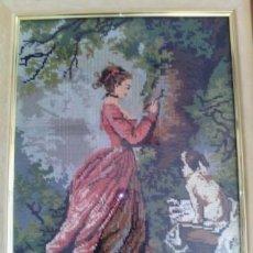Antiques - Cuadro Tapiz de Petit Point - 70270161