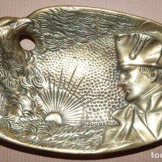 Antigüedades: CENICERO EN BRONCE MOTIVO NAPOLEÓN . Lote 149491302