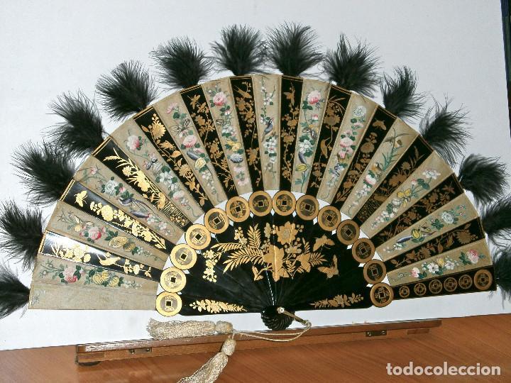 ABANICO CHINO, MUY RARO, GRAN CONSERVACION. (Antigüedades - Moda - Abanicos Antiguos)