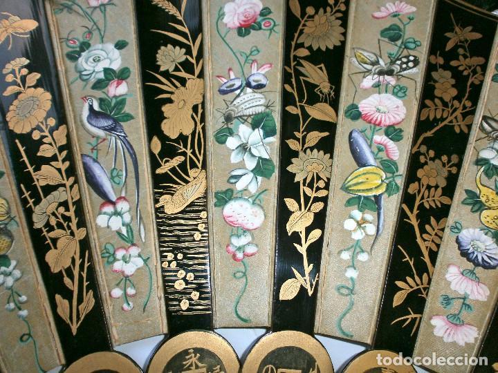 Antigüedades: ABANICO CHINO, MUY RARO, GRAN CONSERVACION. - Foto 3 - 70341105