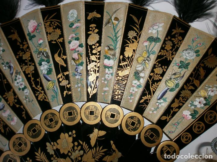 Antigüedades: ABANICO CHINO, MUY RARO, GRAN CONSERVACION. - Foto 9 - 70341105