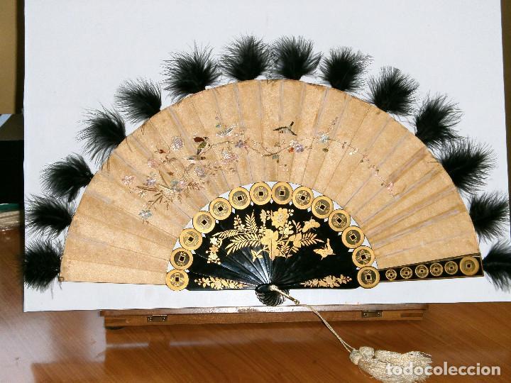 Antigüedades: ABANICO CHINO, MUY RARO, GRAN CONSERVACION. - Foto 10 - 70341105