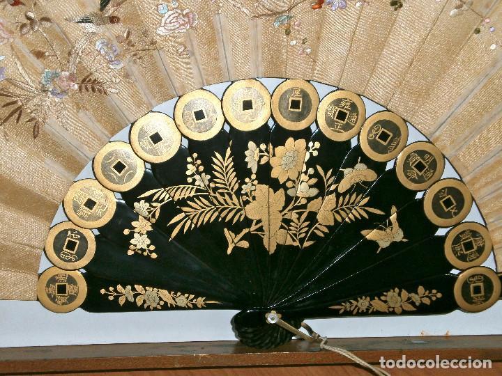 Antigüedades: ABANICO CHINO, MUY RARO, GRAN CONSERVACION. - Foto 11 - 70341105