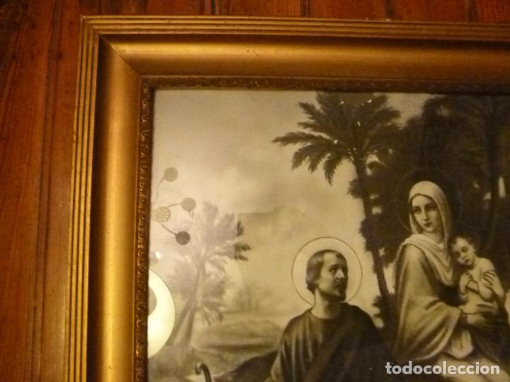 Antigüedades: GRAN MARCO DORADO CON ESTAMPA RELIGIOSA - Foto 2 - 70354821