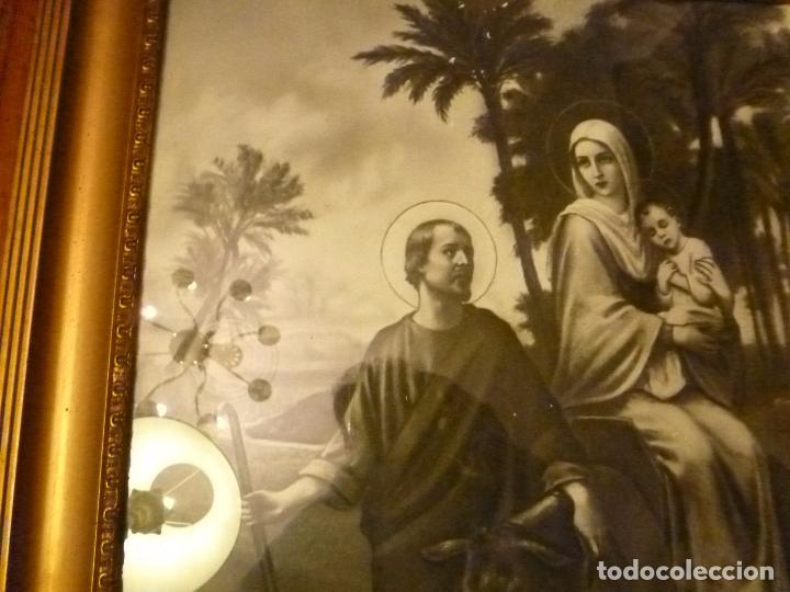 Antigüedades: GRAN MARCO DORADO CON ESTAMPA RELIGIOSA - Foto 4 - 70354821