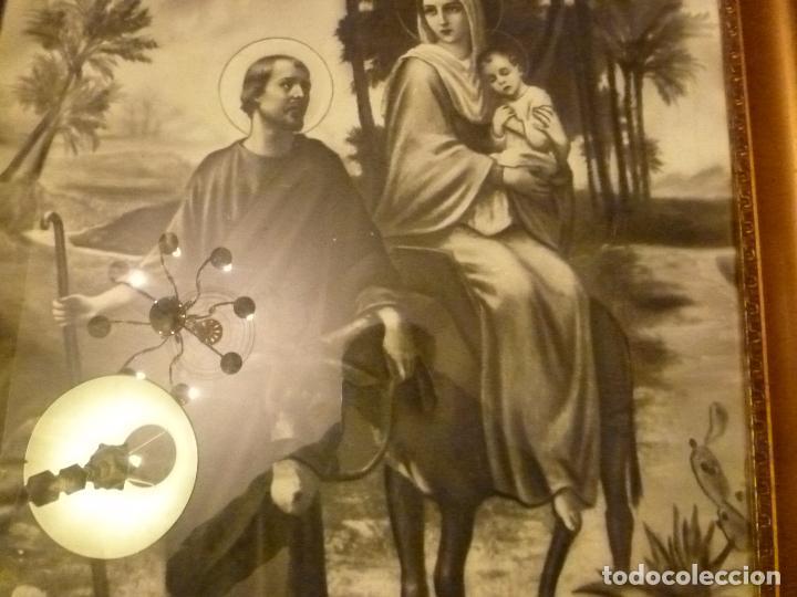 Antigüedades: GRAN MARCO DORADO CON ESTAMPA RELIGIOSA - Foto 6 - 70354821