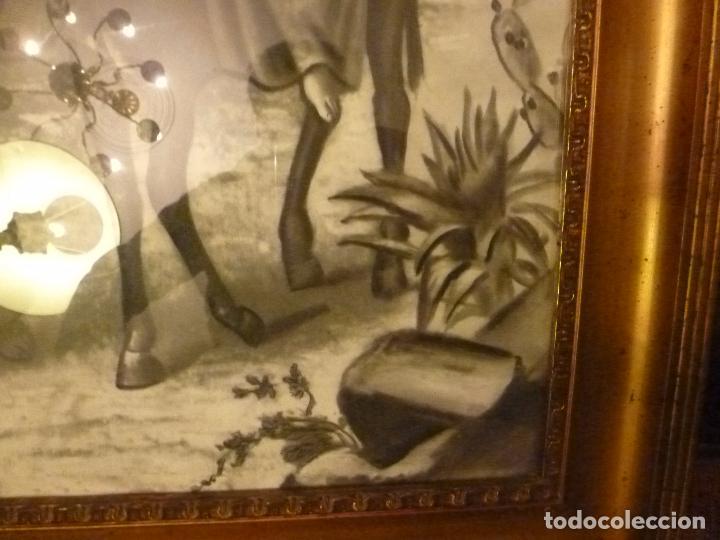 Antigüedades: GRAN MARCO DORADO CON ESTAMPA RELIGIOSA - Foto 7 - 70354821