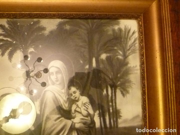 Antigüedades: GRAN MARCO DORADO CON ESTAMPA RELIGIOSA - Foto 8 - 70354821