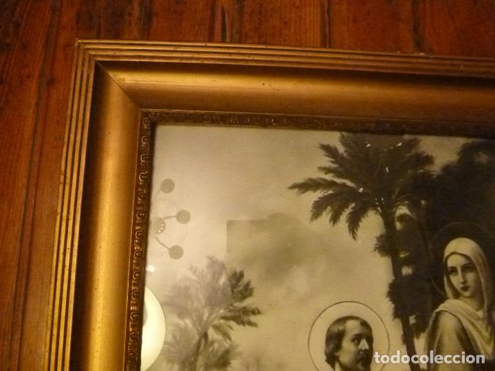 Antigüedades: GRAN MARCO DORADO CON ESTAMPA RELIGIOSA - Foto 9 - 70354821