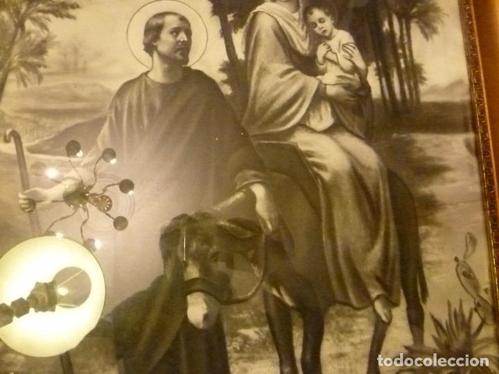 Antigüedades: GRAN MARCO DORADO CON ESTAMPA RELIGIOSA - Foto 10 - 70354821