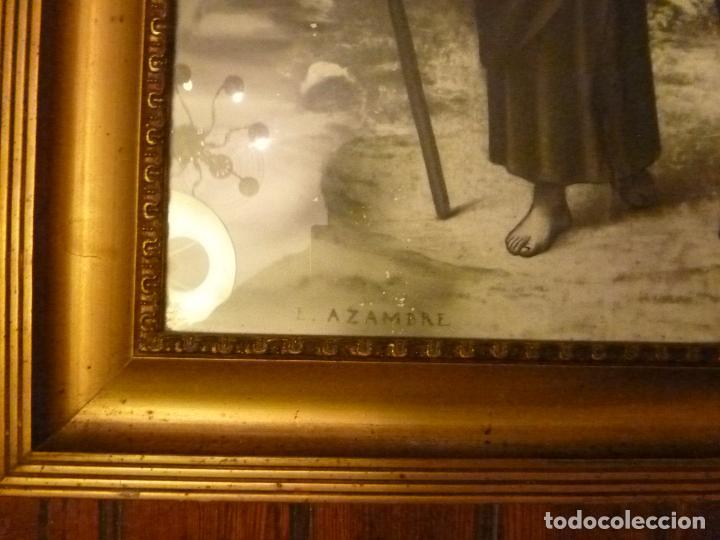 Antigüedades: GRAN MARCO DORADO CON ESTAMPA RELIGIOSA - Foto 11 - 70354821