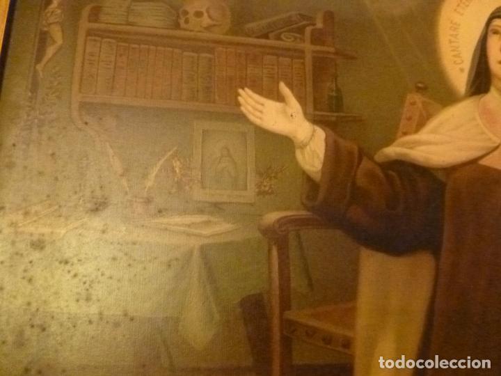 Antigüedades: GRAN MARCO DORADO CON ESTAMPA RELIGIOSA - Foto 2 - 70355329