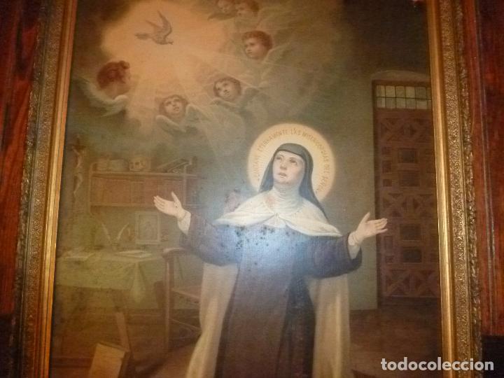 Antigüedades: GRAN MARCO DORADO CON ESTAMPA RELIGIOSA - Foto 6 - 70355329