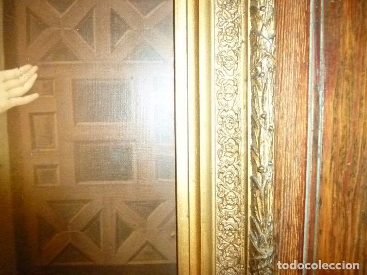 Antigüedades: GRAN MARCO DORADO CON ESTAMPA RELIGIOSA - Foto 9 - 70355329